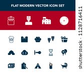 modern  simple vector icon set... | Shutterstock .eps vector #1128716411