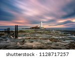 saint mary's lighthouse at... | Shutterstock . vector #1128717257
