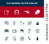 modern  simple vector icon set... | Shutterstock .eps vector #1128717905