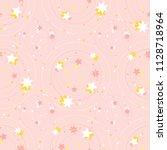 vector seamless pattern. little ... | Shutterstock .eps vector #1128718964