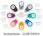 vector infographic label design ... | Shutterstock .eps vector #1128720914