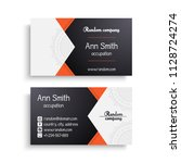 business card. vintage... | Shutterstock .eps vector #1128724274