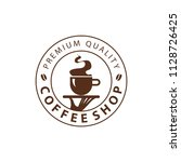 coffee shop logo design element ...   Shutterstock .eps vector #1128726425