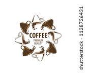 coffee shop logo design element ...   Shutterstock .eps vector #1128726431
