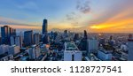 bangkok city central business... | Shutterstock . vector #1128727541