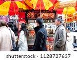 new york city  usa   april 6 ...   Shutterstock . vector #1128727637