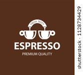 coffee shop logo design element ...   Shutterstock .eps vector #1128734429