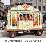 amsterdam   sep 8  barrel organ ... | Shutterstock . vector #112873465