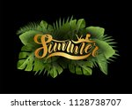 bright tropical background with ... | Shutterstock .eps vector #1128738707