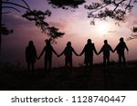 friendship forever shooting... | Shutterstock . vector #1128740447