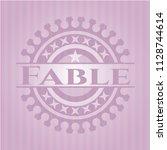 fable pink emblem. vintage.   Shutterstock .eps vector #1128744614