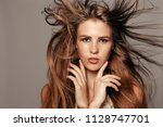 health  people and beauty... | Shutterstock . vector #1128747701