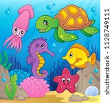 sea life theme image 1   eps10... | Shutterstock .eps vector #1128749111