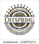 offspring arabic style emblem....   Shutterstock .eps vector #1128752171