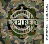 expired on camouflage pattern | Shutterstock .eps vector #1128758267