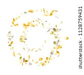 gold yellow on white glowing... | Shutterstock .eps vector #1128759431