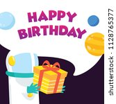 cute birthday card and... | Shutterstock .eps vector #1128765377