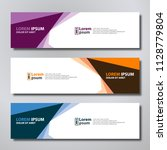 vector abstract design banner... | Shutterstock .eps vector #1128779804