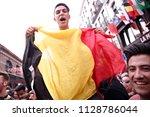 brussels  belgium. 6th july...   Shutterstock . vector #1128786044