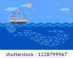 Fishing Vessel Catches School ...