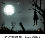 scary halloween background. eps ... | Shutterstock .eps vector #112880071