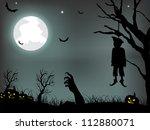 scary halloween background. eps ... | Shutterstock .eps vector #112880071
