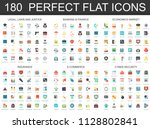 180 modern flat icon set of... | Shutterstock . vector #1128802841