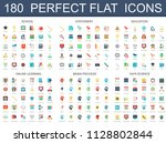 180 modern flat icons set of... | Shutterstock . vector #1128802844