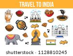 travel to india vector indian... | Shutterstock .eps vector #1128810245