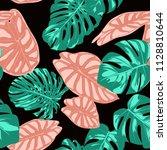 tropical pattern. seamless...   Shutterstock .eps vector #1128810644