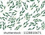 hand drawn eucalyptus seamless... | Shutterstock .eps vector #1128810671