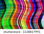curvilinear spectrum lines.... | Shutterstock . vector #1128817991