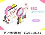 flat isometric vector concept... | Shutterstock .eps vector #1128828161