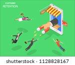 online store customer retention ... | Shutterstock .eps vector #1128828167