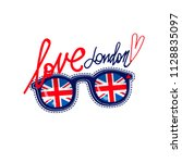 london poster. great britain... | Shutterstock .eps vector #1128835097