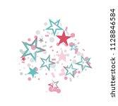 spades shaped christmas... | Shutterstock .eps vector #1128846584