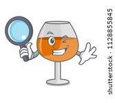detective cognac ballon glass... | Shutterstock .eps vector #1128855845