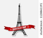 bastille day 14th of july  vive ... | Shutterstock .eps vector #1128861191