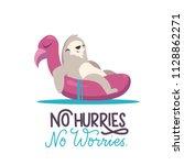 cute sloth illustration sitting ... | Shutterstock .eps vector #1128862271