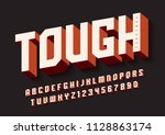 the tough bold display font... | Shutterstock .eps vector #1128863174