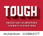 the tough bold display font... | Shutterstock .eps vector #1128863177