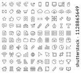 set of 100 basic ui ux icon...