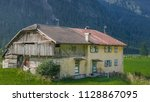 old houses in fontanazzo di... | Shutterstock . vector #1128867095