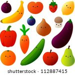 vector illustration of various... | Shutterstock .eps vector #112887415