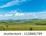 summer agricultural landscape ...   Shutterstock . vector #1128881789