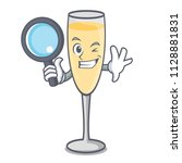 detective champagne character... | Shutterstock .eps vector #1128881831
