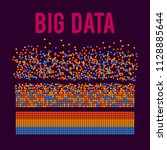 big data visualization. machine ... | Shutterstock . vector #1128885644