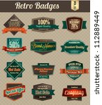 retro vintage badges | Shutterstock .eps vector #112889449