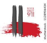 patriot day vector poster.... | Shutterstock .eps vector #1128906434