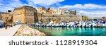 beautiful otranto town  view of ... | Shutterstock . vector #1128919304